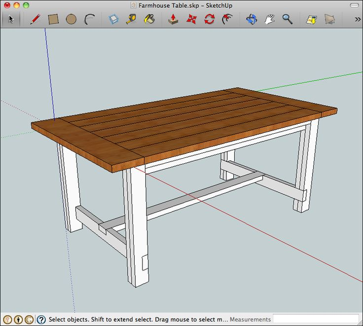 See the farmhouse kitchen table plans desk project - Kitchen table building plans ...