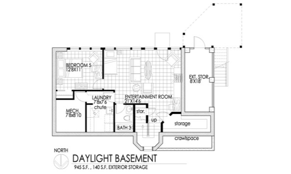daylight basement for the home