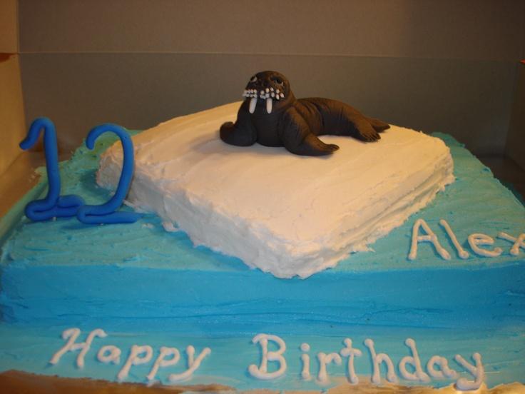 Walrus birthday cake | My Cakes | Pinterest