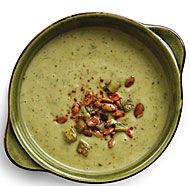 Cold Avocado Soup with Chile-Lime Pepitas. Great soup on a hot day. I ...