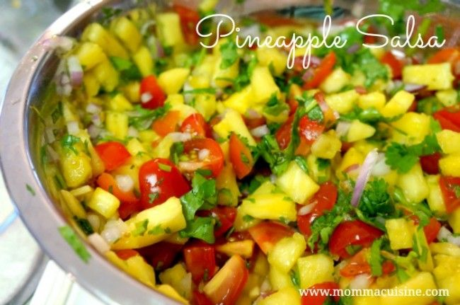 Pineapple salsa! | Food | Pinterest