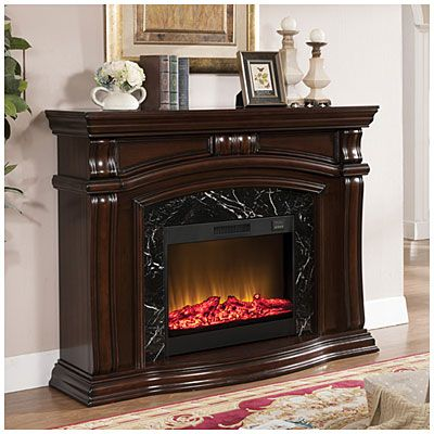 62 Quot Grand Cherry Fireplace At Big Lots For The Home