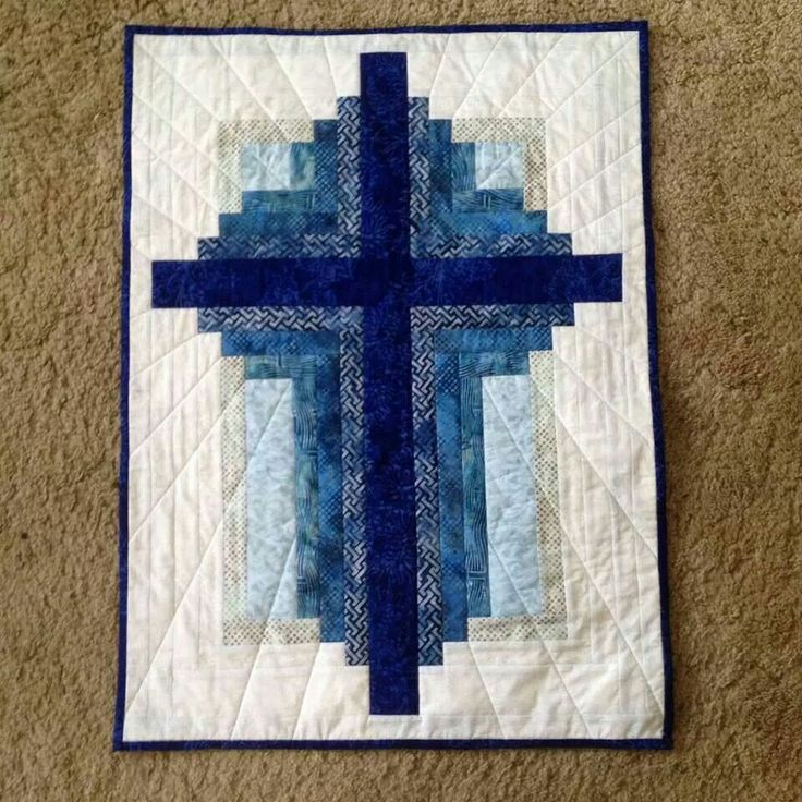 Cross And Log Cabin Pattern Queen Bee Quilts Pinterest