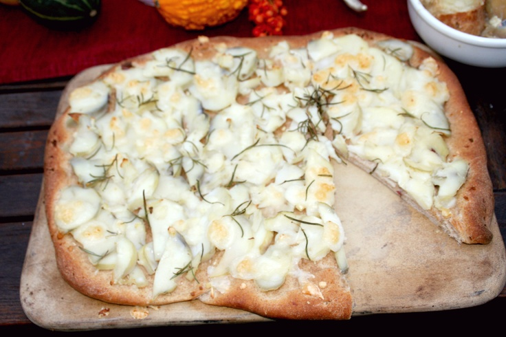 ... Issue #2- Farm to Table Dinner: Potato, Rosemary & Goat Cheese Pizza