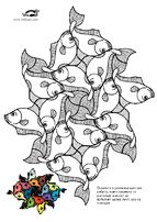 Escher coloring pages krokotak for Escher coloring pages