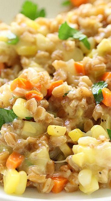 Sweet Corn, Gouda and Farro Risotto | Recipe
