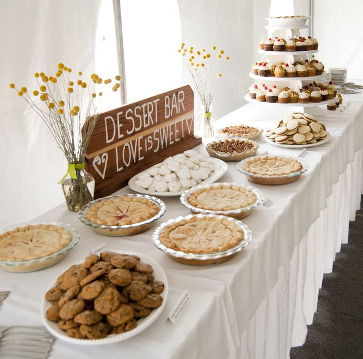Organic dessert bar year anniversary party ideas