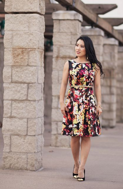 Cute Backyard Party Outfits : cute & little blog  party outfit  choies garden print dress, gold