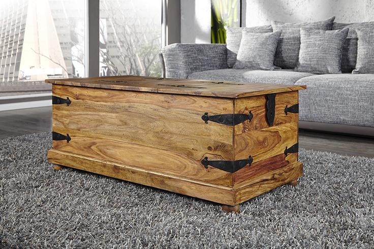 Couchtisch Holz Individuell ~   Couchtisch oder wunderbare Dekotruhe, das edle Sheesham Holz macht