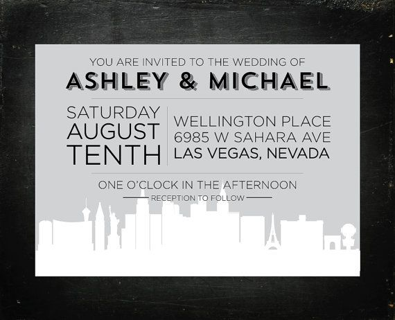 Las vegas tourist board invitation party invitations ideas for Wedding invitations las vegas nv