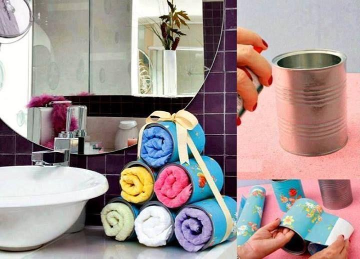 Set De Baño Reciclado:Decoracion De Toallas Para Banos