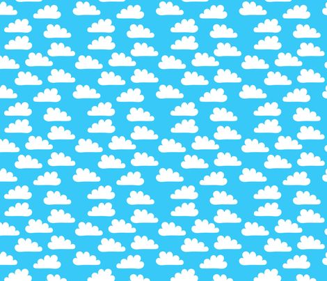 Happy Clouds fabric by carinaenvoldsenharris on Spoonflower - custom fabric