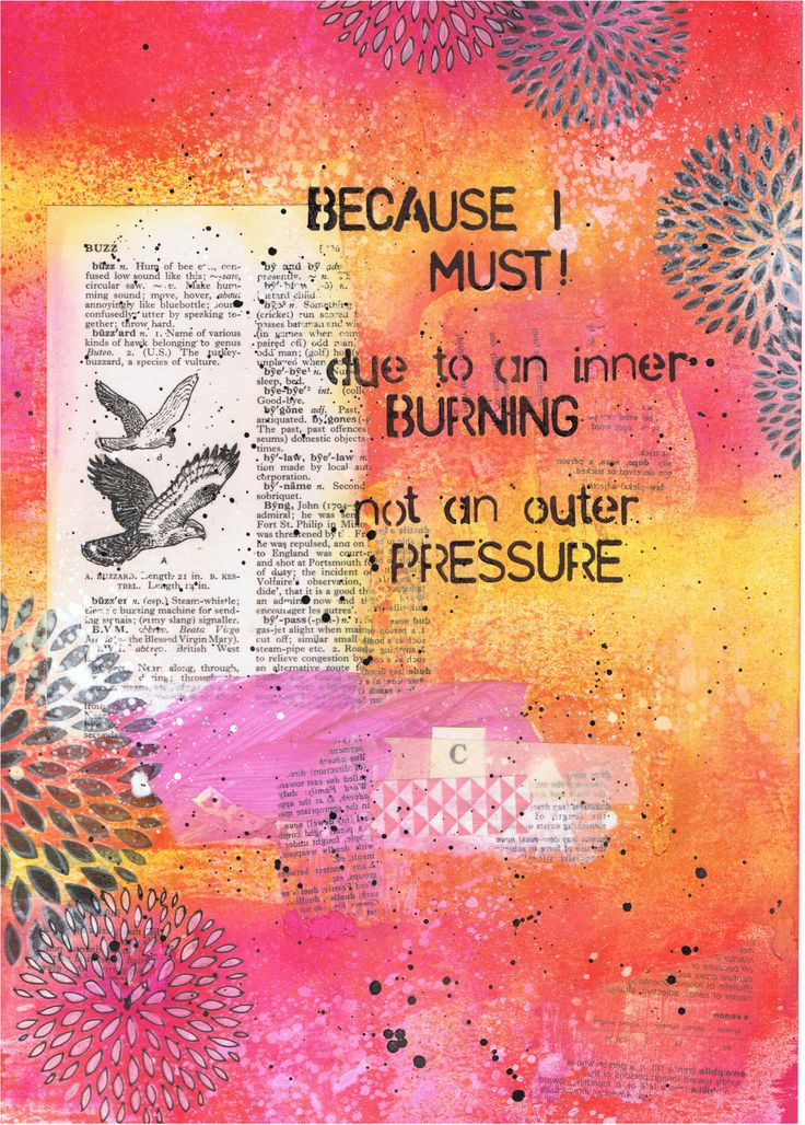 Art Journal - 'Because I Must!' mixed media by http://inkyfingersstore.blogspot.com.au/