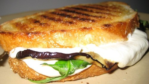 Week 20: Grilled Eggplant, Arugula, and Mozzarella Panini by Laura ...