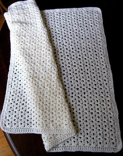 Clusters And Shells Baby Crochet Afghan Pattern : Cluster Stitch Crochet Baby Blanket Knitting & crochet ...