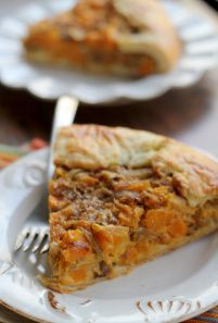 butternut squash and caramelized onion galette. Delicious!