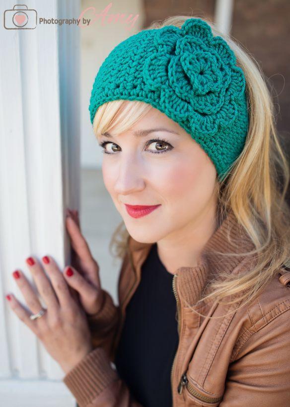 Easy free ear warmer crochet pattern crochet Pinterest