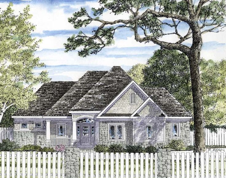 Cottage Ranch Traditional House Plan 94187