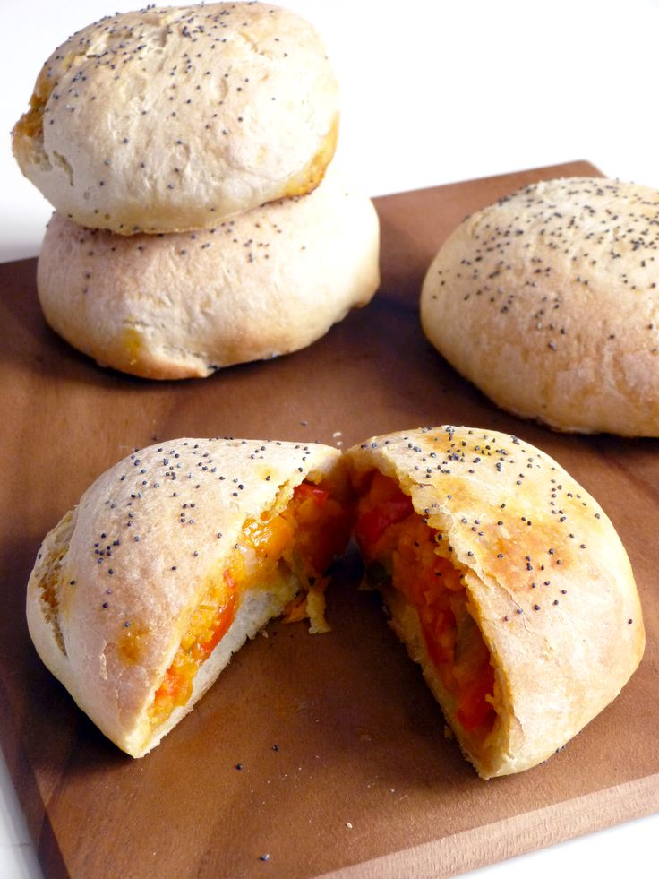 Stuffed Bread Rolls with bell peppers and sweet potatoes For more ...