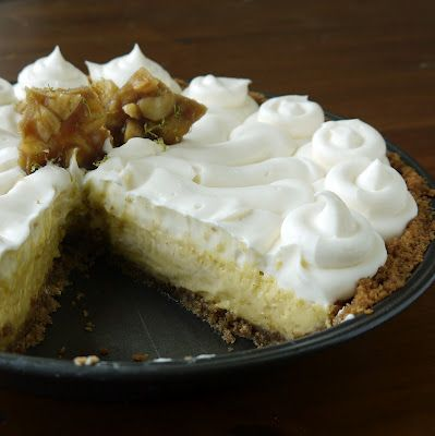 Key-Lime Pie with White-Chocolate-Coconut Rum Cream and Macadamia Lime ...
