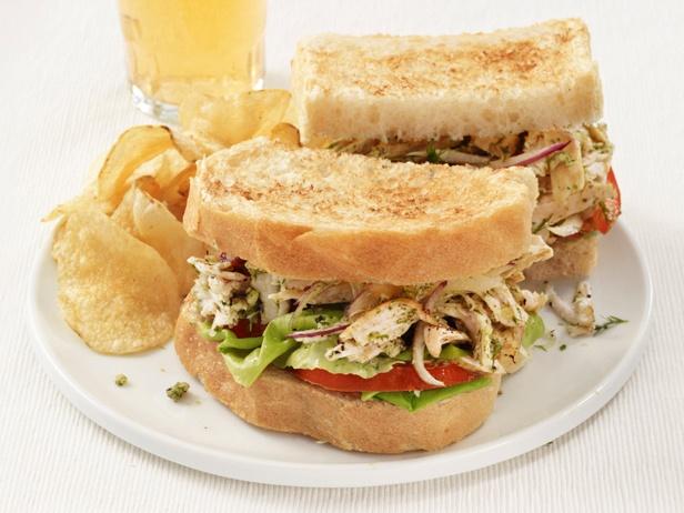 Chicken Salad Sandwiches With Walnut-Dill Pesto   Recipe