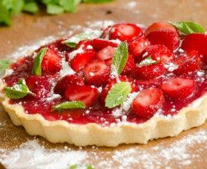 Strawberries and Cream Tart - Holidays | strawberry desserts | Pinter ...