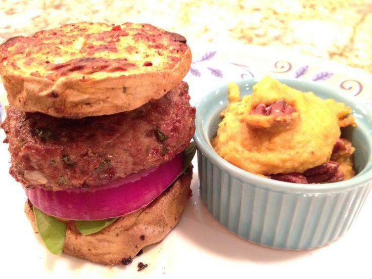 Paleo Mint Lamb Burger with Velvety Butternut Squash. Burger recipe ...