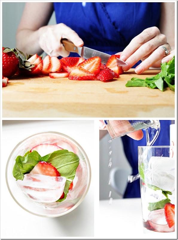 Strawberry Basil Sparkler | yummers | Pinterest