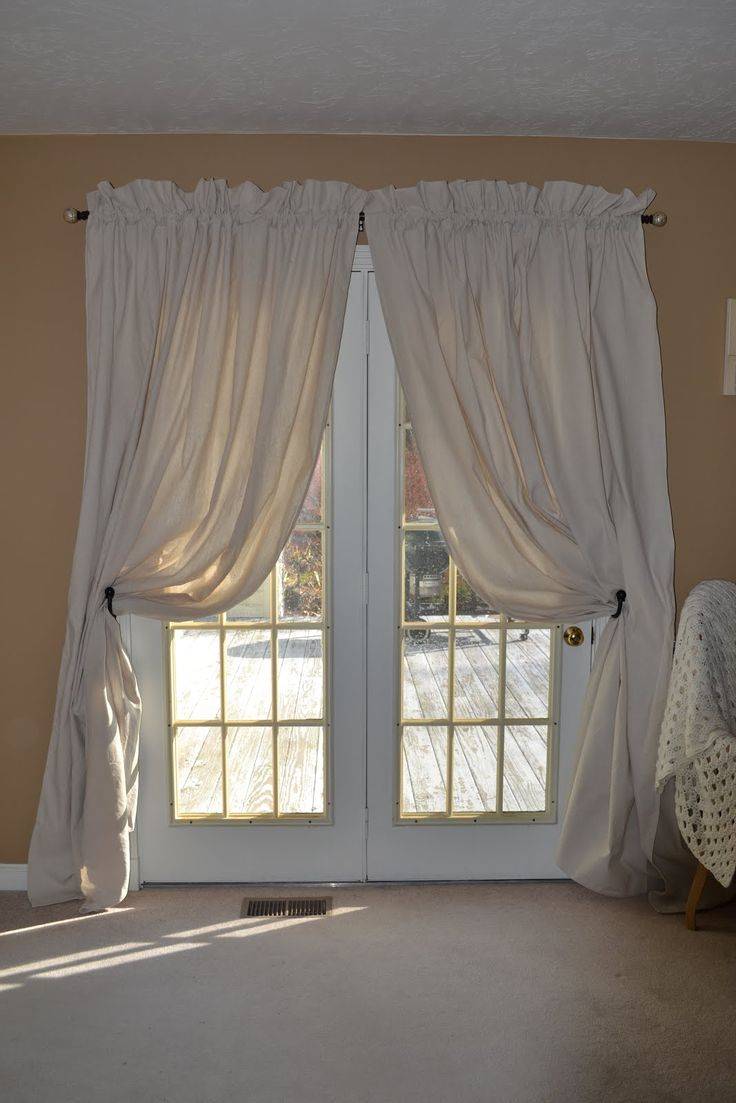 drop cloths as curtains - Google Search | Window Dressings | Pinterest