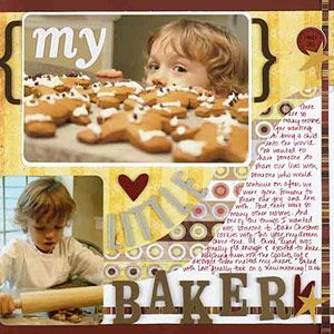 Scrapbook Cookie-Baking Sessions