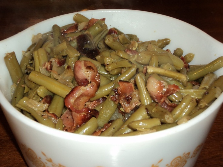 Old Fashioned Green Beans And Bacon Recipe