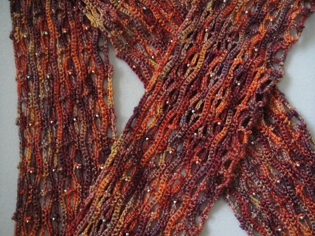Ninas Beaded Scarf pattern by Lana Holden