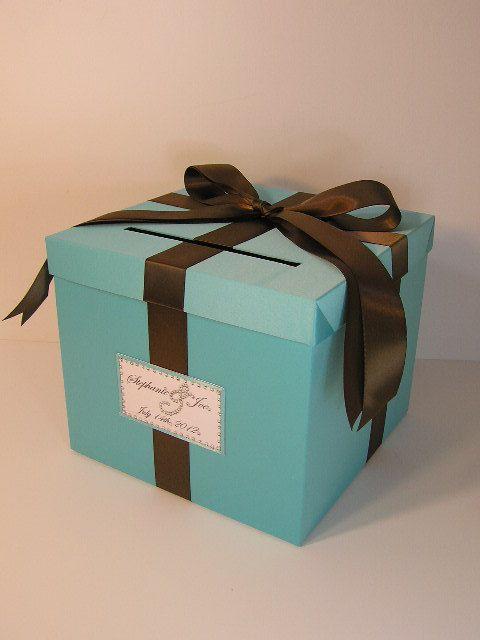 Tiffany Blue Wedding Card Box Gift Card Box Money Box Holder-Customiz ...