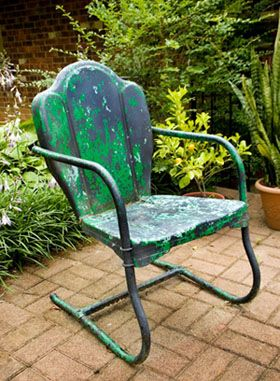 Painting Metal Patio Furniture Landscaping Gardening Pinterest