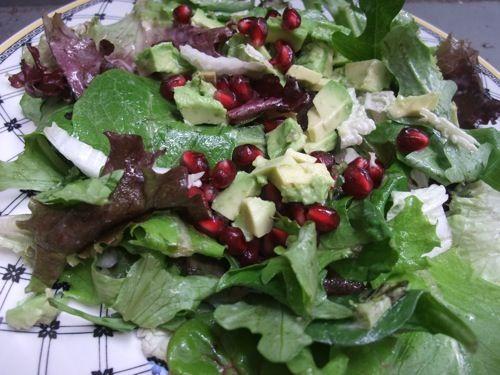 Travel  News  Reviews  Recipes  Pomegranate Avocado Salad with Miso Dressing Recipe