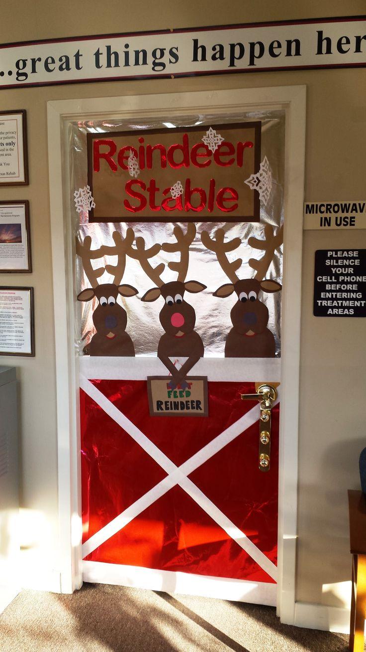 pinterest singing reindeer door decoration   just b.CAUSE