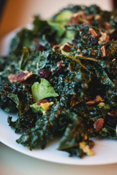 Conscious Cleanse Kale Salad with Avocado, Cherries and Pecans by The ...