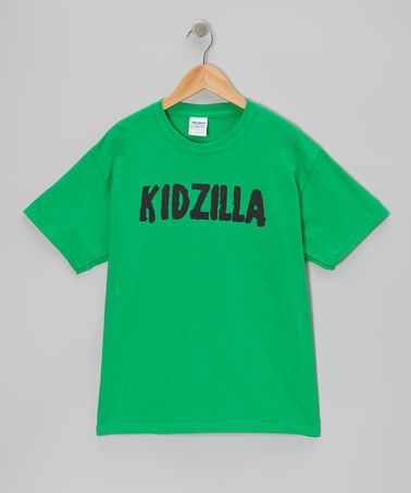 Take Look This Green Kidzilla Tee Kids Crazy Dog