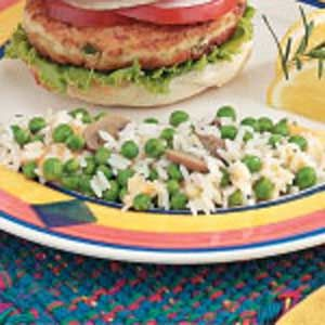 Cheesy Rice with Peas | Recipe