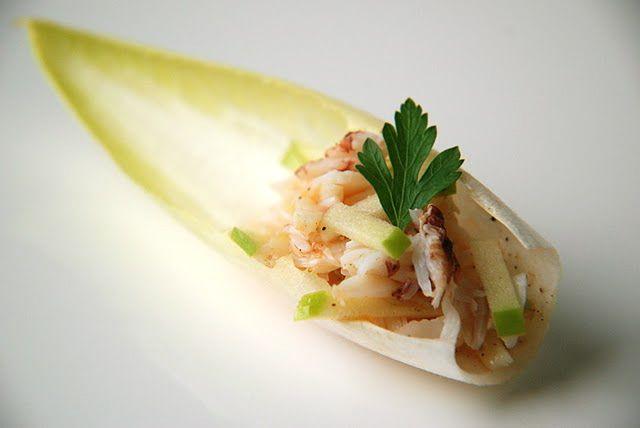Crab Salad w/Green Apples and Grapefruit Vinaigrette in Endive Petals ...
