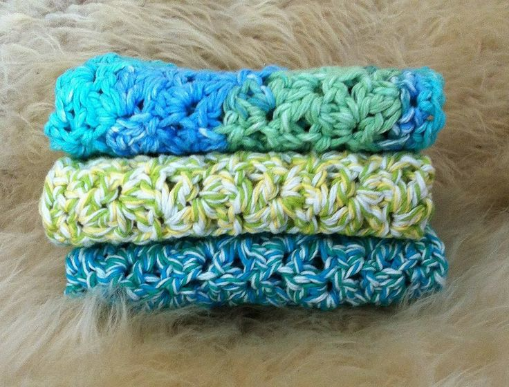 Crocheting Crazy : Crochet Crazy: 100% Cotton Spa Cloths (Free Pattern)- Discovering ...