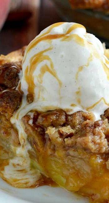 Maple Bourbon Brown Butter Peach Pie | Recipe