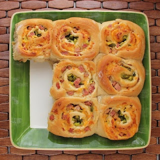 Ham and cheese rolls with mustard (Three Little Pigs or Jack and The ...