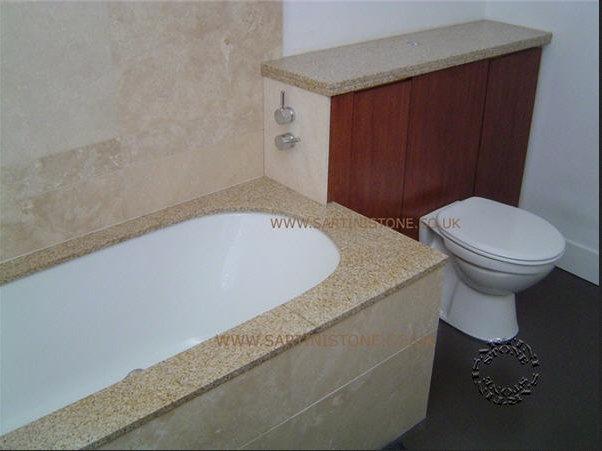 Stone bath surround bathroom tiles pinterest