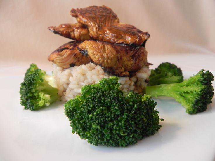 turkey noazet with broccoli on porcini mushrooms risotto (turkey ...