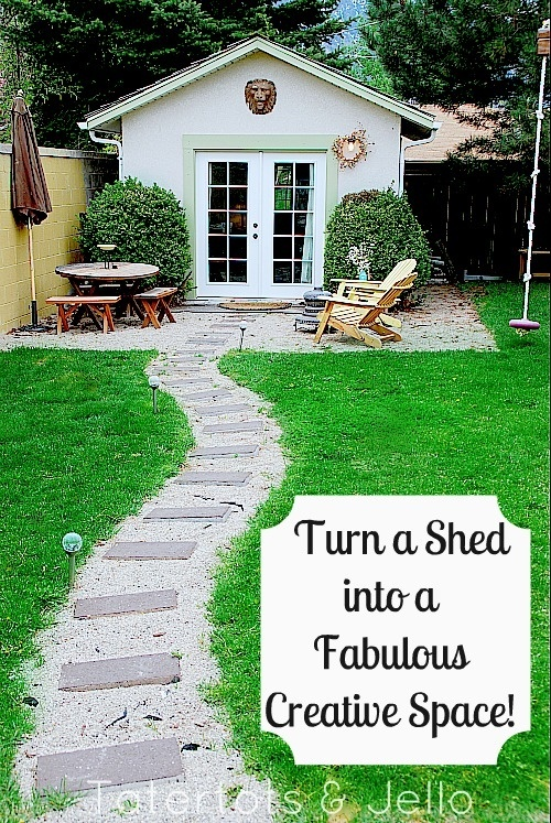 Turn a shed into a creative space. This is my total dream peaceful hideaway to sew.