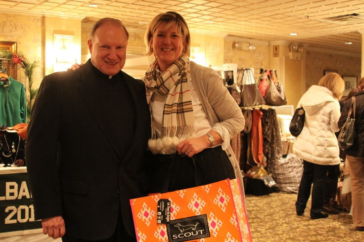 Moderator Fr. Richard Cronin and DMG President Patty McCormick at the DMG Shop Till You Drop event on November 29, 2012.
