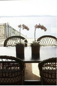 Wicker dining chairs ....
