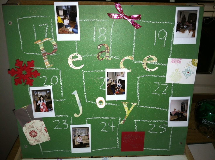 DIY countdown to Christmas | Deck the Halls! | Pinterest