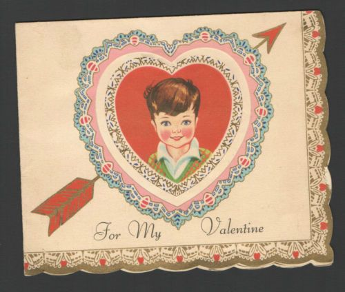 valentine day card cut out
